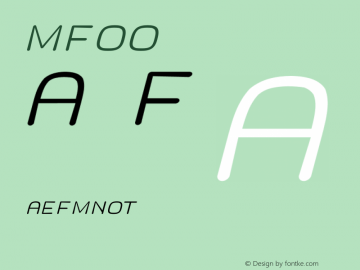 MF_LOGO Slanted LOGOSL Font Sample