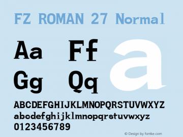 FZ ROMAN 27 Normal 1.000 Font Sample