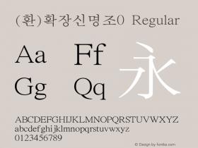 (환)확장신명조0 Regular HAN Font Conversion Ver 1.0 by Art-Woder Font Sample