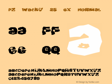 FZ WACKY 25 EX Normal 1.000 Font Sample