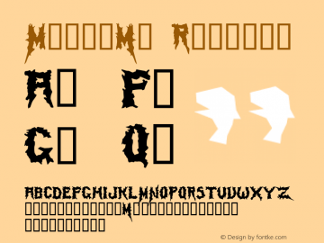 Mayhem™ Regular Altsys Fontographer 4.0 5/6/94 Font Sample