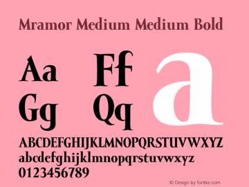 Mramor Medium Medium Bold 001.000图片样张