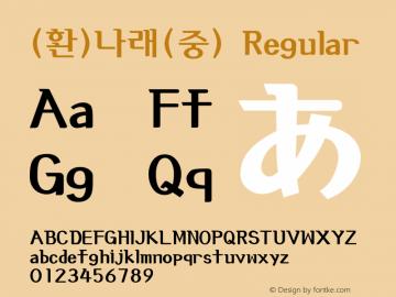 (환)나래(중) Regular HAN Font Conversion Ver 1.0 by Art-Woder Font Sample