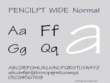 PENCILPT WIDE Normal 1.0 Fri Oct 22 16:12:52 1993 Font Sample