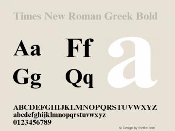 Times New Roman Greek Bold Version 1.1 - April 1993 Font Sample