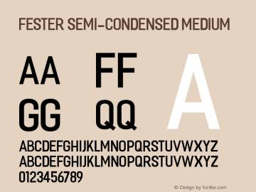 Fester Semi-condensed Medium Version 1.000图片样张