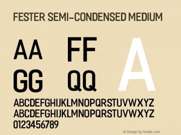 Fester Semi-condensed Medium 1.000图片样张