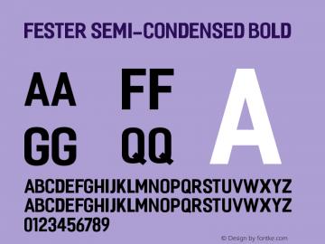 Fester Semi-condensed Bold 1.000图片样张