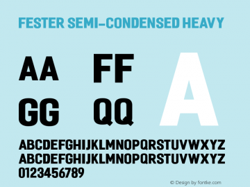 Fester Semi-condensed Heavy 1.000图片样张