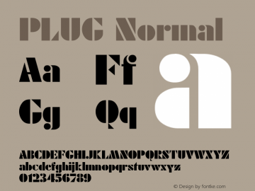PLUG Normal (C) 1992 ATTITUDE, INC. All Rights Reserved. Font Sample
