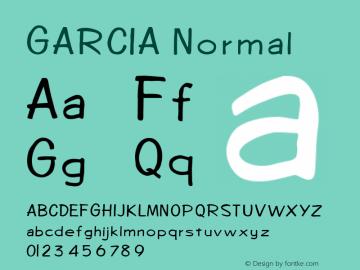 GARCIA Normal 1.0 Thu May 13 21:07:36 1993 Font Sample