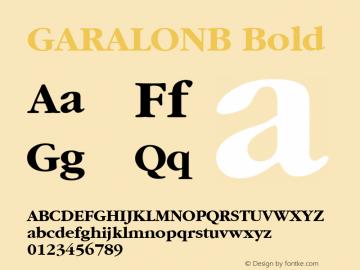 GARALONB Bold 1.0 Mon Feb 15 19:50:12 1993 Font Sample