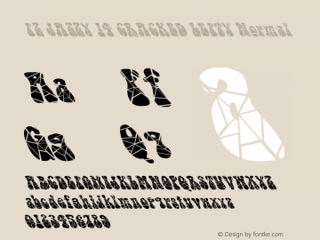 FZ JAZZY 14 CRACKED LEFTY Normal 1.200 Font Sample