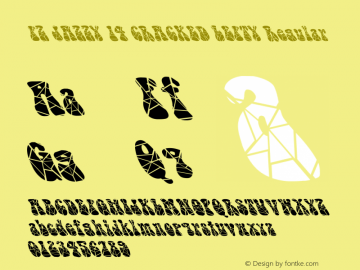 FZ JAZZY 14 CRACKED LEFTY Regular 1.1 Thu May 27 17:55:22 1993 Font Sample