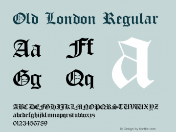 Old London Regular OTF 1.000;PS 001.002;Core 1.0.29 Font Sample