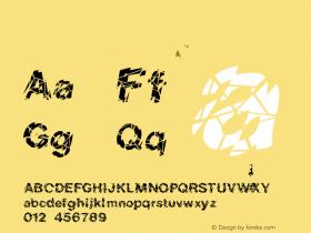FZ UNIQUE 20 CRACKED Normal 1.000 Font Sample