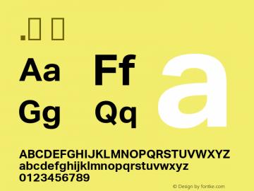 .  Version 2.000 Font Sample