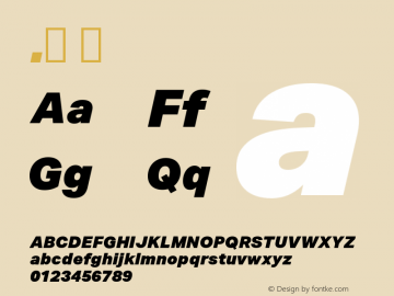.  Version 1.013 Font Sample