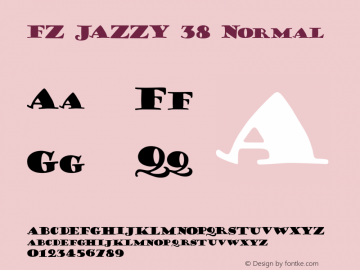 FZ JAZZY 38 Normal 1.000 Font Sample