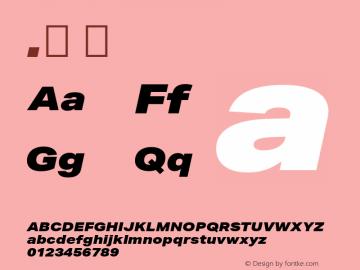 .  Version 1.001 Font Sample