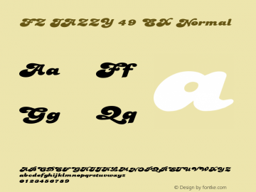 FZ JAZZY 49 EX Normal 1.000 Font Sample