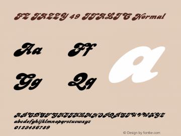 FZ JAZZY 49 ITALIC Normal 1.000 Font Sample
