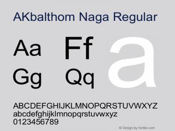 Akbalthom Naga Font Family Akbalthom Naga Uncategorized Typeface Fontke Com For Mobile