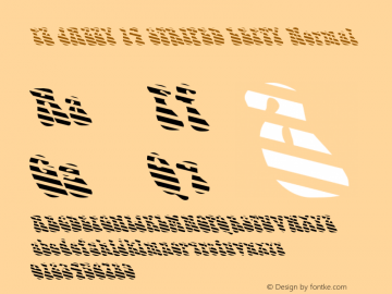 FZ JAZZY 14 STRIPED LEFTY Normal 1.200 Font Sample