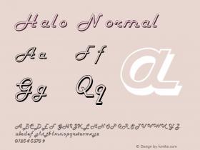 Halo Normal 1.0 Tue Jul 27 02:59:18 1993 Font Sample