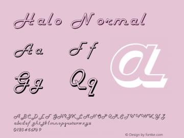 Halo Normal Altsys Fontographer 4.1 11/6/95 Font Sample