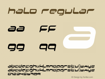 Halo Regular Fenotypefaces 2002 Font Sample