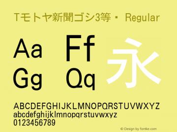 Tモトヤ新聞ゴシ3等幅 Regular Version T-2.10 Font Sample