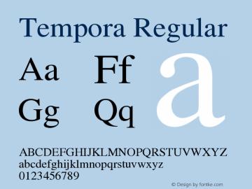 Tempora Regular Version 1.0 Font Sample