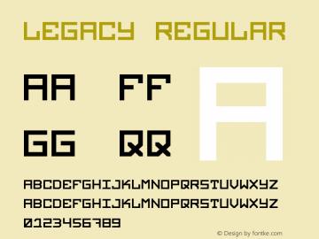 Legacy Regular Version 001.000图片样张