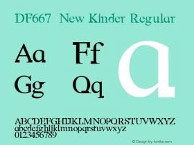 DF667  New Kinder Regular Macromedia Fontographer 4.1 18/11/97 Font Sample