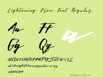 Lightening Free Font Regular Version 1.000图片样张