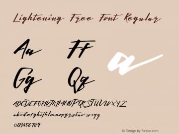 Lightening Free Font Regular 1.000图片样张