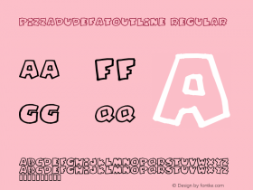 PizzaDudeFatOutline Regular 2 Font Sample