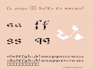 FZ JAZZY 33 HOLEY EX Normal 1.0 Mon Jan 24 18:35:29 1994 Font Sample