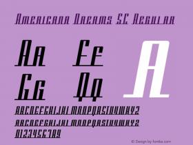 Americana Dreams SC Regular Macromedia Fontographer 4.1 3/9/99图片样张