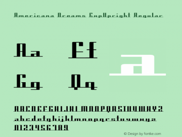 Americana Dreams ExpUpright Regular Macromedia Fontographer 4.1 3/9/99图片样张