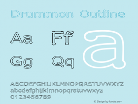 Drummon Outline 1.03 Font Sample