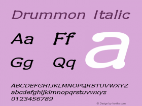 Drummon Italic 1.02 Font Sample