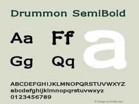 Drummon SemiBold 1.02 Font Sample