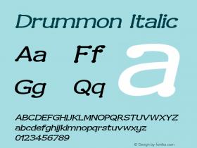Drummon Italic 2.0 Font Sample