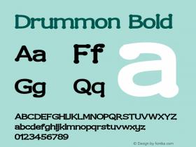 Drummon Bold 2.0 Font Sample