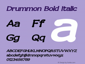 Drummon Bold Italic 2.0 Font Sample