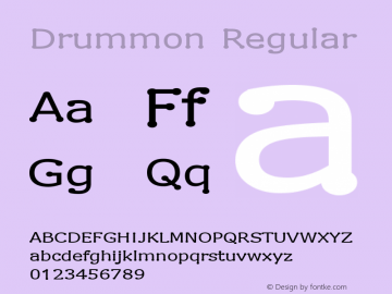 Drummon Regular 1.02 Font Sample