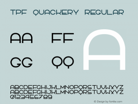 TPF Quackery Regular 2.0 Font Sample