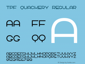 TPF Quackery Regular 1.0 Font Sample